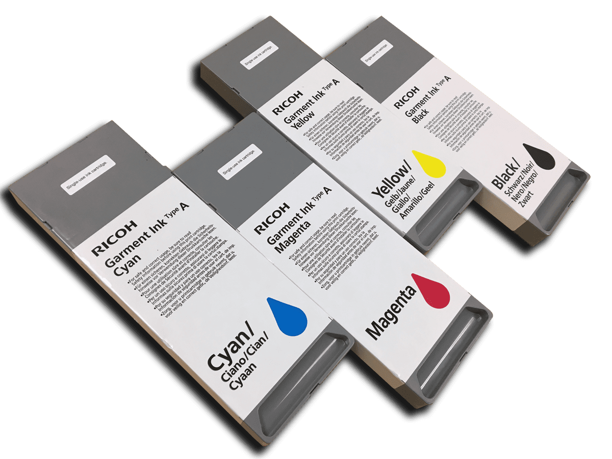 NEW RICOH Garment Ink For Ricoh And mPower Printers - AnaJet